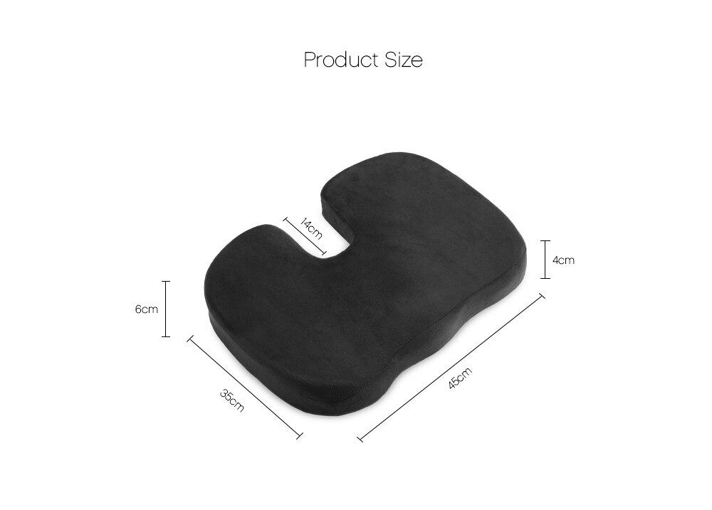 Negro espuma de memoria ortopédica asiento cojín para silla Coche ...
