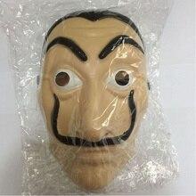 10Pcs/lot Halloween Masquerade Cosplay Funny Accessories Comedy Master La Casa De Papel Dali Mask