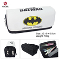 Super Hero Batman Superman Iron Man Children School Pencil Case Pen Pouch Phone Makeup Bag Cosmetic Case Bag For Girls Boys Kid