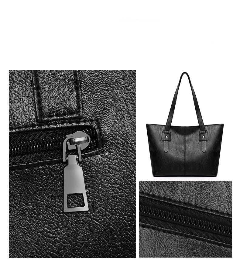 a743a04b4f4 ... Classic Black Luxury Big Tote Shoulder Bags 2019 Cheap Women PU Leather  Handbags Work Casual Shopping ...