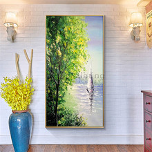 Canvas Painting palette knife 3D texture acrylic tree painting Wall art Pictures For Living Room home decor cuadros decoracion06