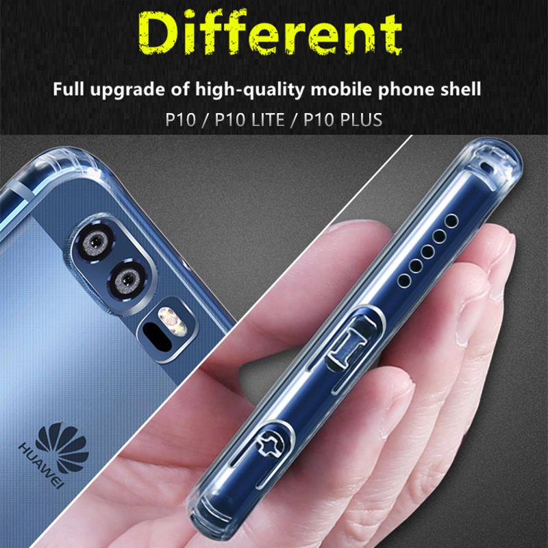 Hot Silicone Soft TPU Transparent Case For Huawei P10 Plus High Quality Cover Cases lite