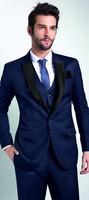 2017 Latest Coat Pant Designs Blue Formal Men Suit Skinny Classic Outfit Stylish Custom Fashion Men