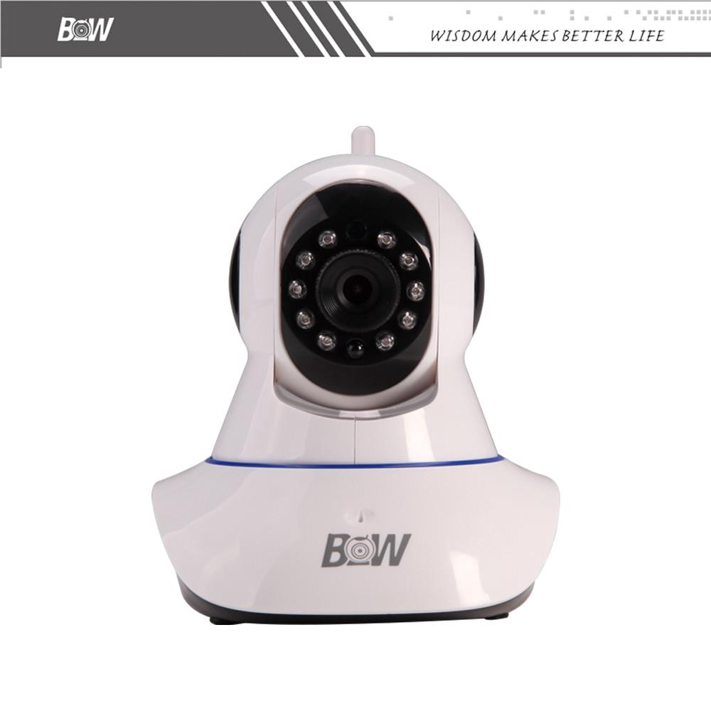BW HD 720P WiFi IP Camera Onvif Surveillance Cam Wireless Security IP Camera Wi-Fi Baby Monitor Automatic Sensor Alarm bw p2p cctv ip camera wifi wireless hd 720p onvif rotatable surveillance security camera cctv automatic sensor detector alarm