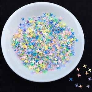 Image 5 - 500 g/pacote 4 milímetros Estrela Forma Solta Lantejoulas Lantejoulas para Unhas Arte Decoração de casamento Confetti Estrela Prego Sequin Artes e artesanato