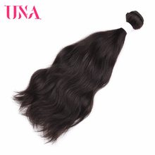 UNA Malaysian Human Hair 1 Piece Pack Deal Natural Hair Non-Remy Straight Matural Hair Weft Human Hair Weave Bundles 8-26 inches(China)