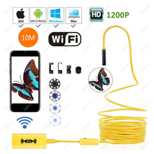 WIFI Endoscope 3.5M 5M 10M New Camera 8mm1200P HD 8mm Lens USB for Iphone Android Endoscope Tablet Wireless Endoscope Wifi все цены
