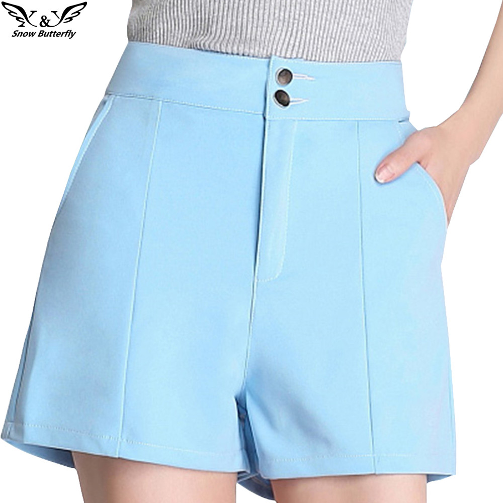 2019 High Quality Summer Shorts For Women Female Short Casual Ladies Thin Plus Size Slim Pocket Cortos Pantalones Women's