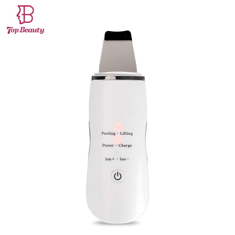 Ultrasonic Skin Scrubber Ultrasound Facial Skin Cleaner Anion Ultrasonic Face Skin Peeling Massager Facial Cleaner Scrubber
