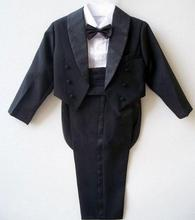 1-10T Boys fits for weddings Youngsters Promenade Fits Black/White Wedding ceremony Fits for Boys Tuxedo Youngsters Clothes Set Boy Formal Costume