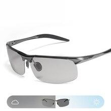 Vazrobe Photochromic Sunglasses Polarized Men Alumium Chameleon Glasses for Driving Day Night Goggles Anti Glare UV400 Sport