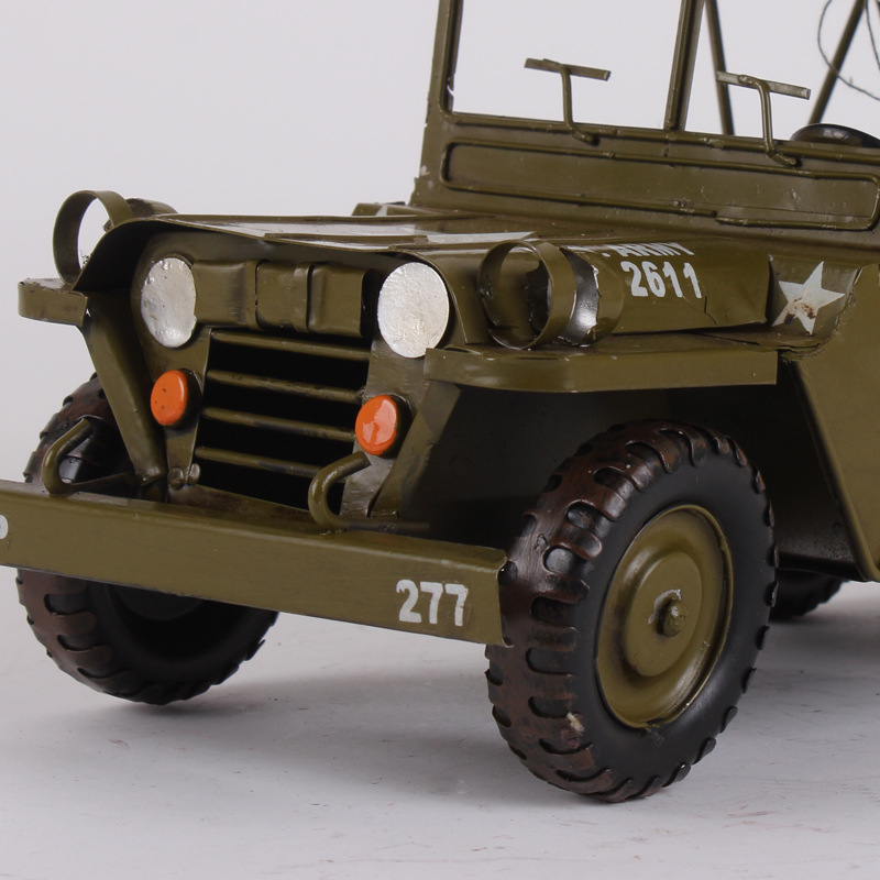 Hood jeep model simulation finished doing the old tin ornaments ...