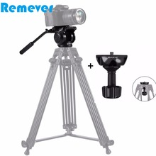 лучшая цена Professional Hydraulic Gimbal tripod Head with Quick Release Plate for Canon Sony Nikon DSLR Cameras Camcorder Video Film Shoot