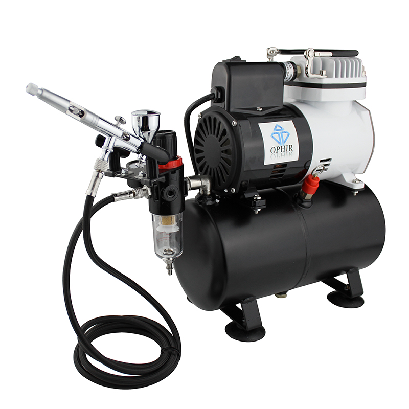 OPHIR Air Compressor Gravity Dual-Action Airbrush Temporary Tattoo with 3 Tips Nozzles For Cake Decoration_AC115+070 4pcs china oem new for kyocera fs 6025 6035 8025 6030 6525i upper fuser roller printer parts
