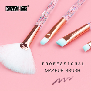 Image 5 - Maange 4/10 個新ダイヤモンド化粧ブラシセット女性財団パウダーブラッシュリップ化粧品のためのカラフルなを構成するツール