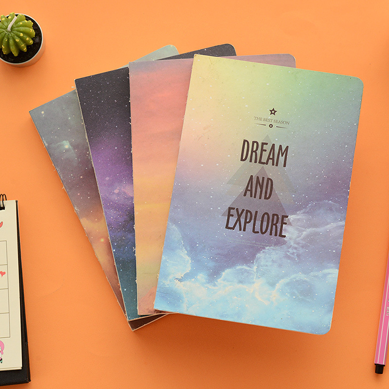 Creative Design To Cover Notebook : Space starry sky series cover notebook a notepad creative
