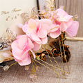 6pc/lot Butterfly Flower Hair Clip Wedding Hair Accessories Bridal Headpiece Hairpin Ornament Jewelry Pince Cheveux WIGO0742