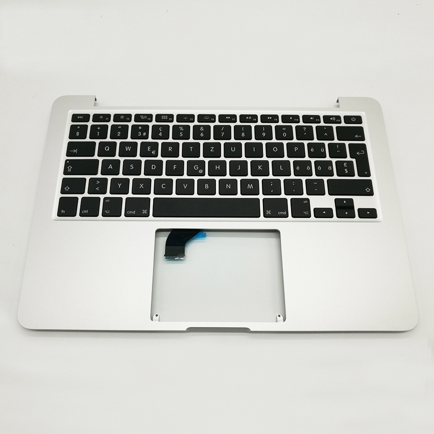 New SW Swiss Switzerland Topcase Top Case Palmrest Keyboard For Macbook Pro 13