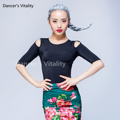 78354cb7b Solid Black Latin Dance Top For Women Long Sleeve Dancing Shirts Sexy Vogue  Ballroom Costume Performance Dancing Wear-in Latin from Novelty & Special  Use on ...