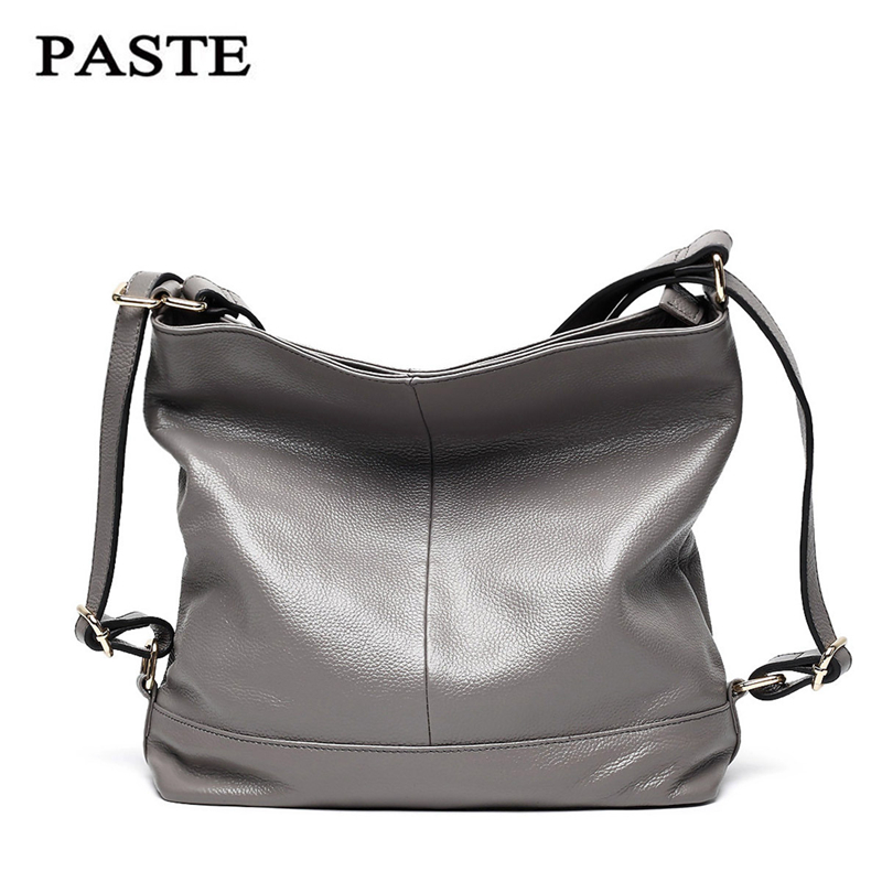 PASTE Fashion Brands Genuine Leather Women Handbag 2017Ladies Tote Handbags Shoulder Bag Female Vintage Messenger Bags Crossbody zency new women genuine leather shoulder bag female long strap crossbody messenger tote bags handbags ladies satchel for girls