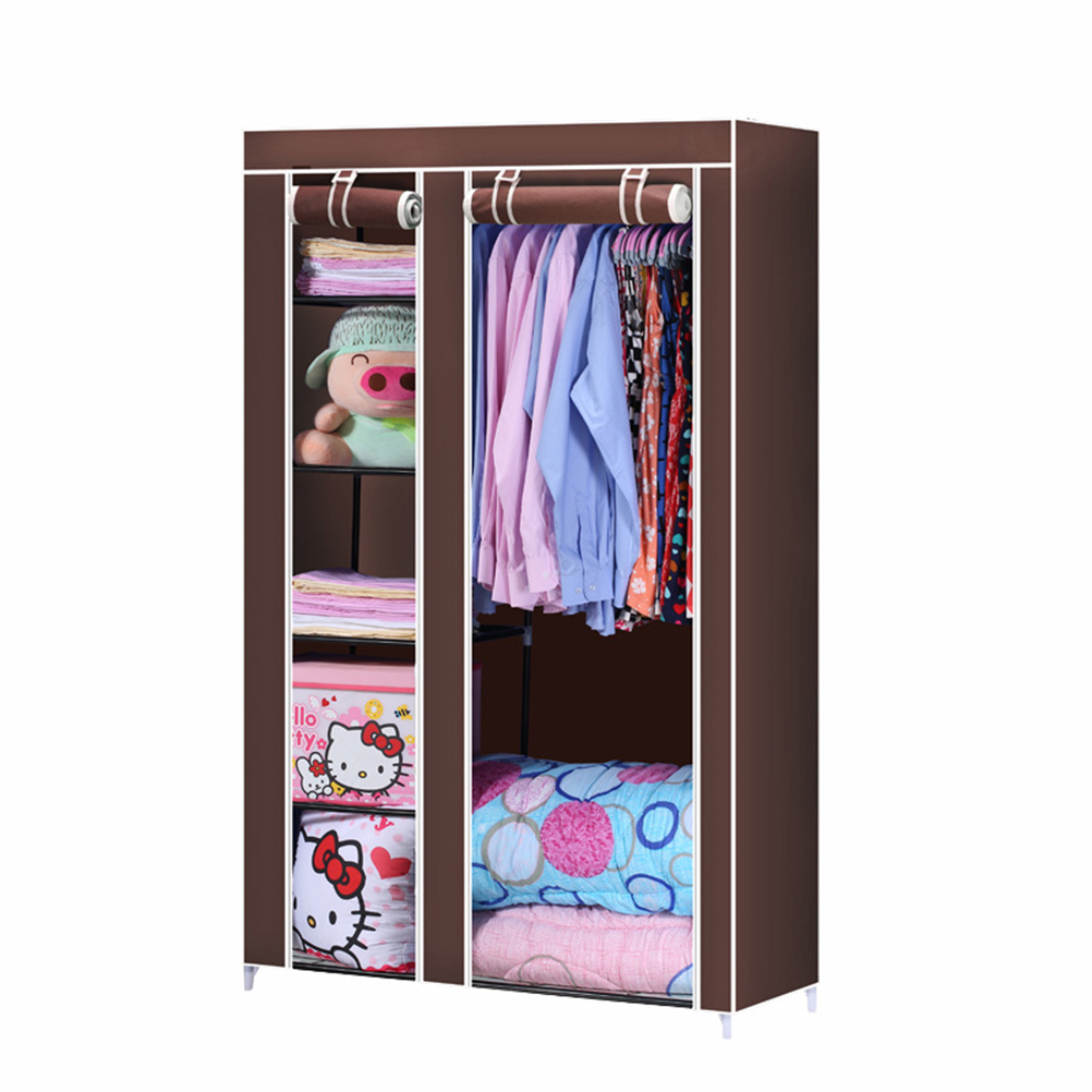 closet organizer storage rack portable clothes hanger home garment shelf rod coffeechina - Portable Clothes Rack