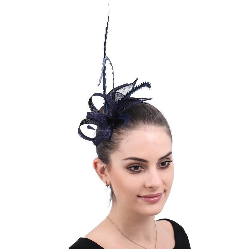 Braut Kopfbedeckungen ZuverläSsig 2019 Britischen Mode Neue Stil Mesh Feder Bogen-knoten Kopfschmuck Elagant Damen Party Vintage Kopfschmuck Für Hochzeit Party GroßE Auswahl;