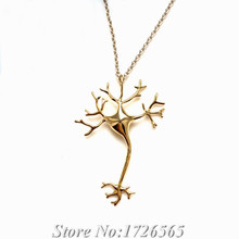 2015 Science Jewelry Boho Chic Neuron Nerve Brain Cell Necklace Color Life Tree Long Necklaces Ladies Fashion Neclaces For Women