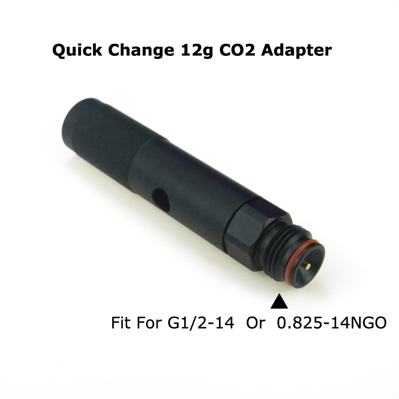 New  Paintball Air Gun Airsoft PCP Air Rifle Quick Change 12 Gram 12G CO2 Adapter With Paintball Tank Threads Acessorios-BLACK