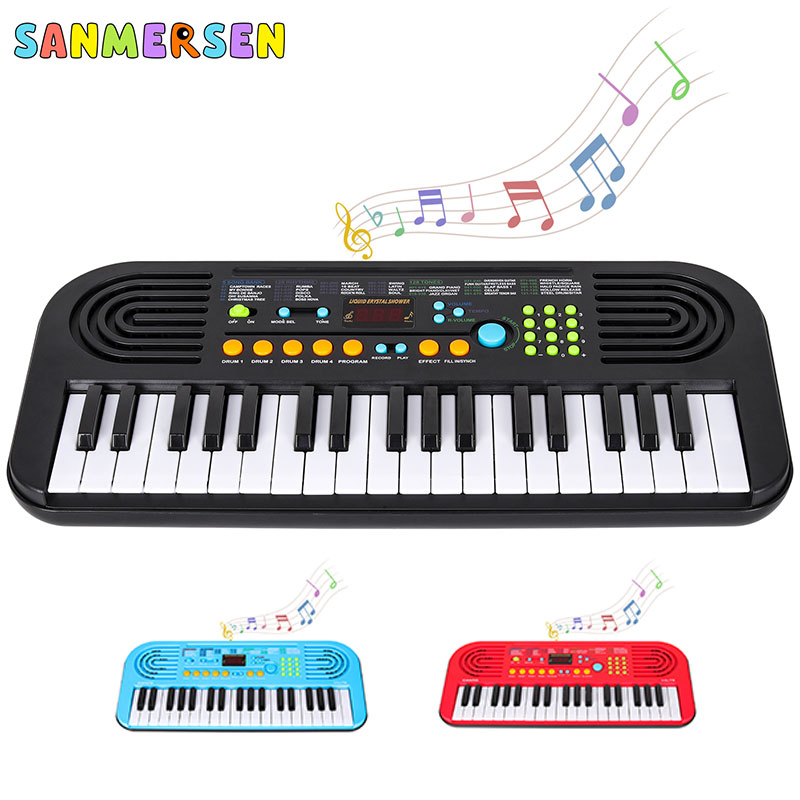 37 Keys Kids Children Piano Keyboard Portable Keyboard Piano Early Learning Educational Music Instrument Toy Gift For Children