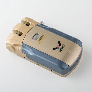 Image 2 - Wafu 010 Keyless כניסה מרחוק דלת מנעול אלחוטי 433mHZ Invisible אינטליגנטי מנעול עם 4 מפתחות מרחוק