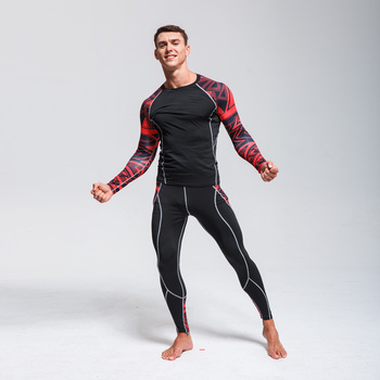 Men's Ski Underwear Set  Thermal Base Layer  Men Workout Clothes Set Sports Compression Long sleeve Shirts MMA rashgard kit 4XL underwear brand menswear thermal underwear skull 3d pattern printing rashgard kit man tracksuit thermal underwear base layer 4xl