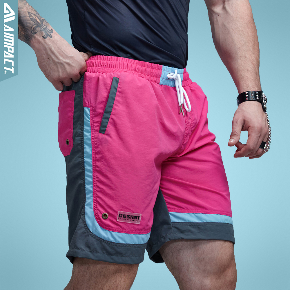 Aimpact Sexy Beach Men's Shorts Leisure Sea Men Board Shorts  Fast Dry Elastic Waist Shorts Activewear Lining Liner Shorts DT63