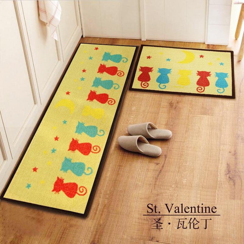 40X60 + 45X120 CM/Set tapis de cuisine de bande dessinée anti-dérapant tapis de salle de bain entrée/couloir paillasson enfants tapis et tapis/tapis