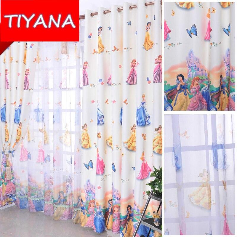 ventana decoracin para habitacin de los nios lindos de la princesa de dibujos animados apagn termin