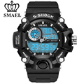 SMAEL New S SHOCK Series Luxury Brand Men Military Sports Watch Digital LED Quartz Wrist Watches Rubber Strap Relogio Masculino