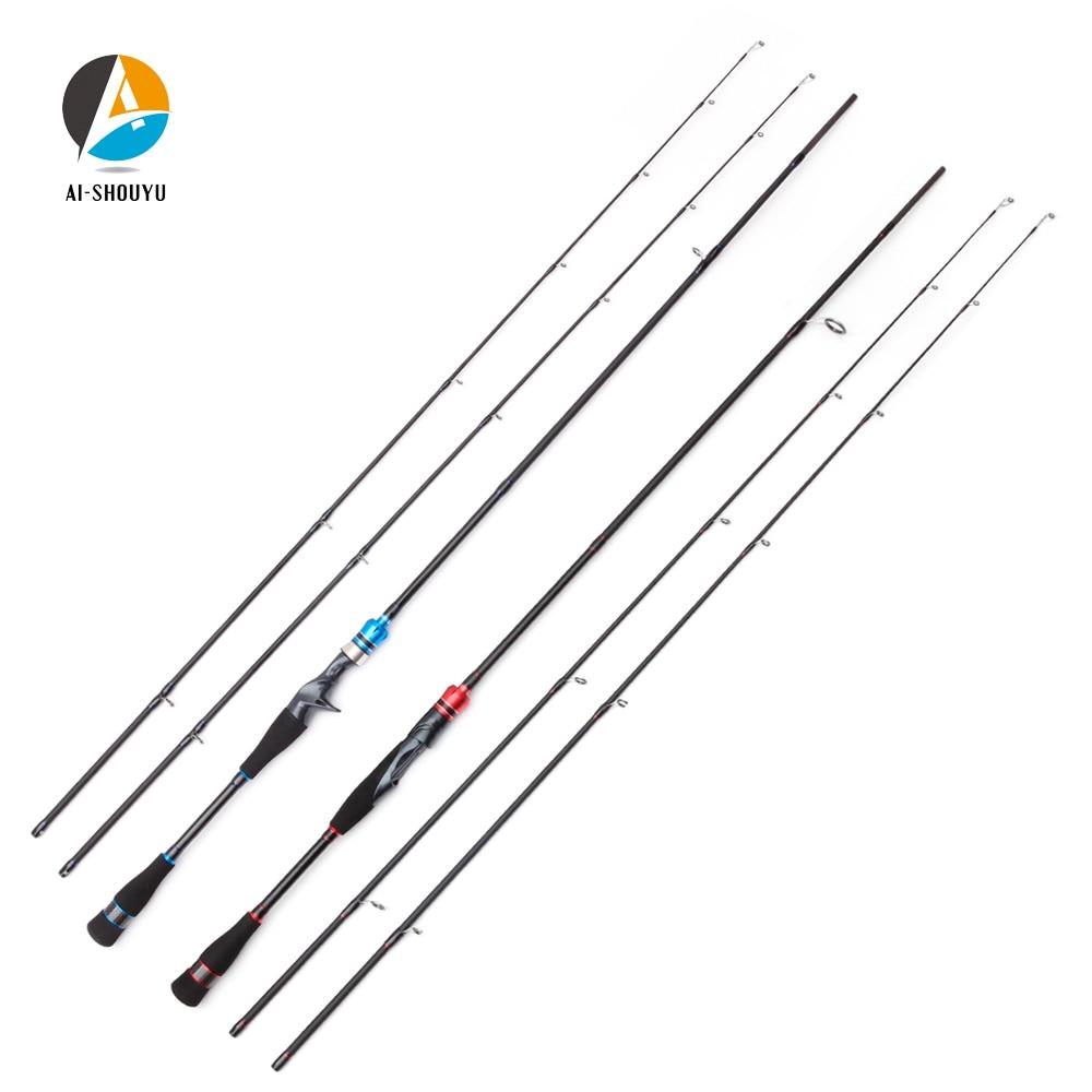AI-SHOUYU New ML/M Power Lure Fishing Rod Spinning/Casting Fishing Rod 2.1m 2.4m 2 Sections Carbon Travel Rod Fishing Pole