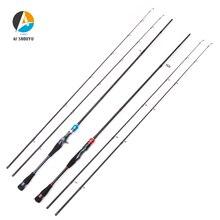 цена на AI-SHOUYU New ML/M Power Lure Fishing Rod Spinning/Casting Fishing Rod 2.1m 2.4m 2 Sections Carbon Travel Rod Fishing Pole