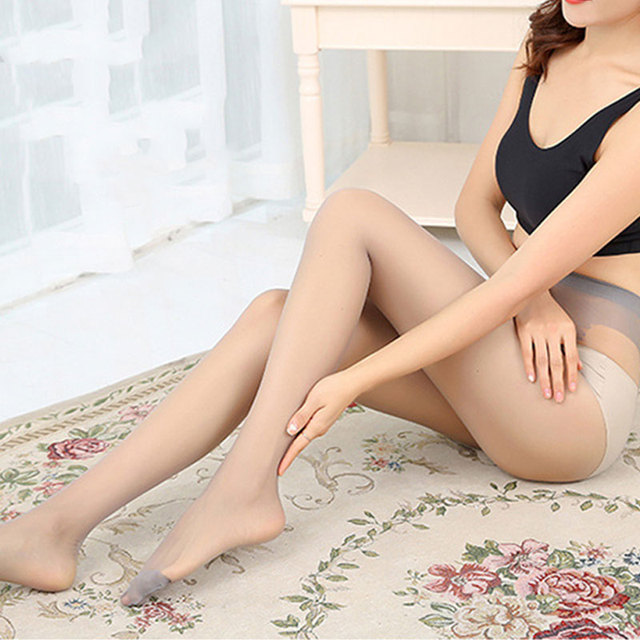 4 Colors Thin Stretchy Slim  Butterfly Fork High Hosiery Tights Pantyhose Sexy Nylon Spandex Lady Transparent  for woman 2