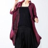 Fashion Celmia Full Sleeve Turn Down Collar Open Front Blouse Button Down Asymmetric Hem Female Autumn