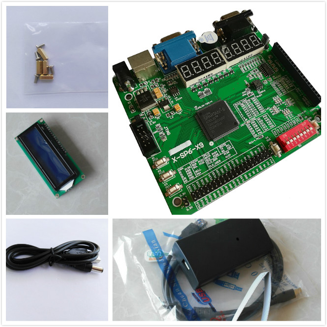 Xilinx Platform Cable USB+LCD1602+ xilinx fpga development board  spartan-6 xilinx board xilinx kit xc6slx9-tqg144 waveshare xc3s250e xilinx spartan 3e fpga development board 10 accessory modules kits open3s250e package a