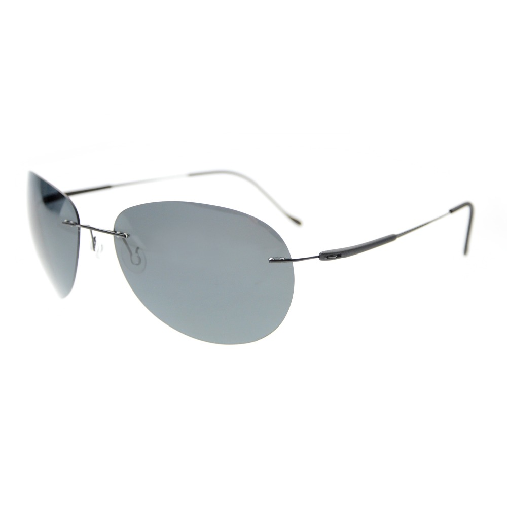 S1606 Eyekepper Rimless Lens Titanium Polarized Sunglasses