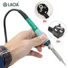 LAOA 25W/35W Ceramic Long Life Iner heat Electric Soldering Iron hot gun soldering rework station Welding tools aoyue 35w solder iron original soldering station handle 35w