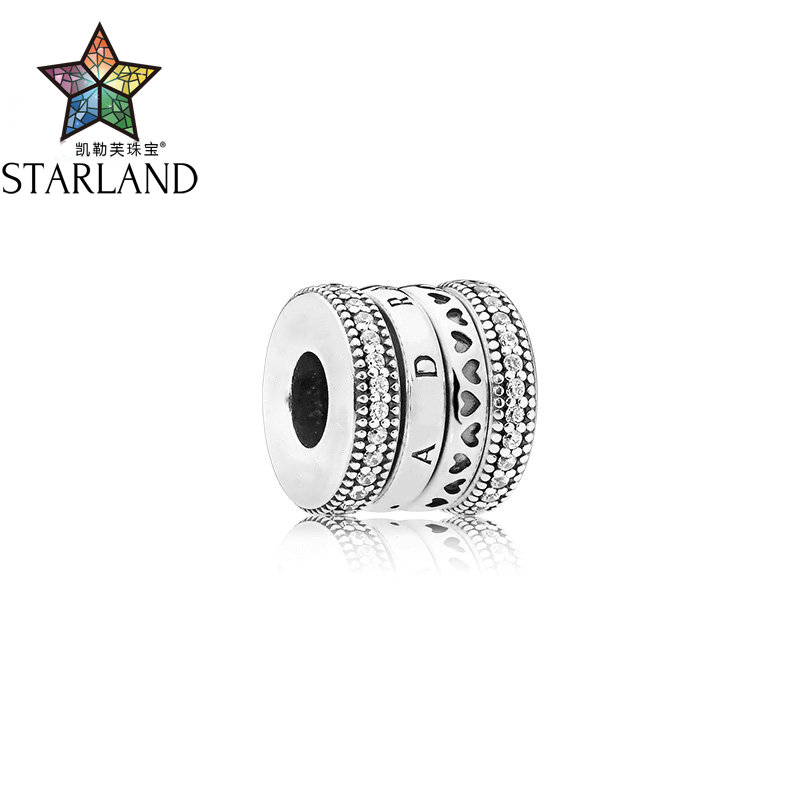 Starland  Original Fashion Charm Bracelets 925 Sterling Silver SIGNED Turning Hearts Clear CZ  For Jewelry Making 2019 NewStarland  Original Fashion Charm Bracelets 925 Sterling Silver SIGNED Turning Hearts Clear CZ  For Jewelry Making 2019 New