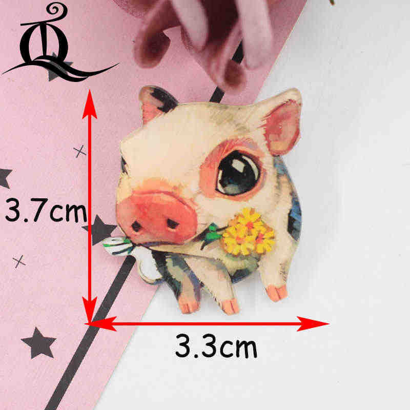1PC animal Acrylic Brooches Cartoon hot Tribe Mix Brooches Backpack Student Clothes Brooches Pins Bag Decor Brooch Badges Z21