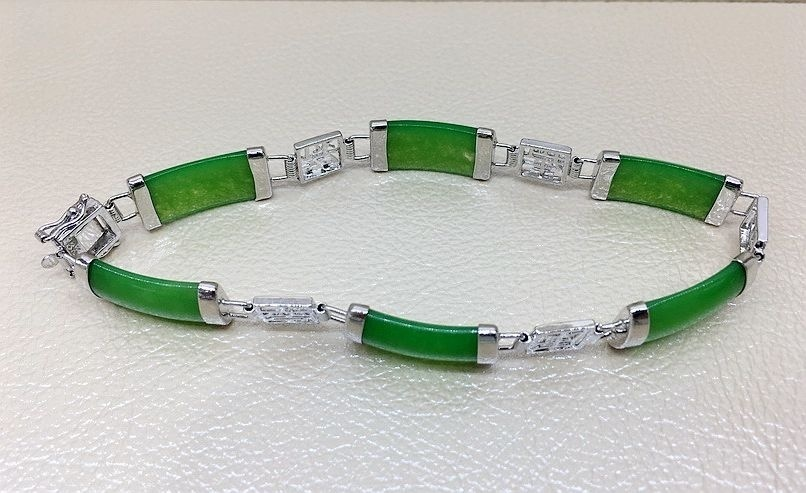 Natural 925 Sterling Silver Bracelet Chinese Character Bracelet
