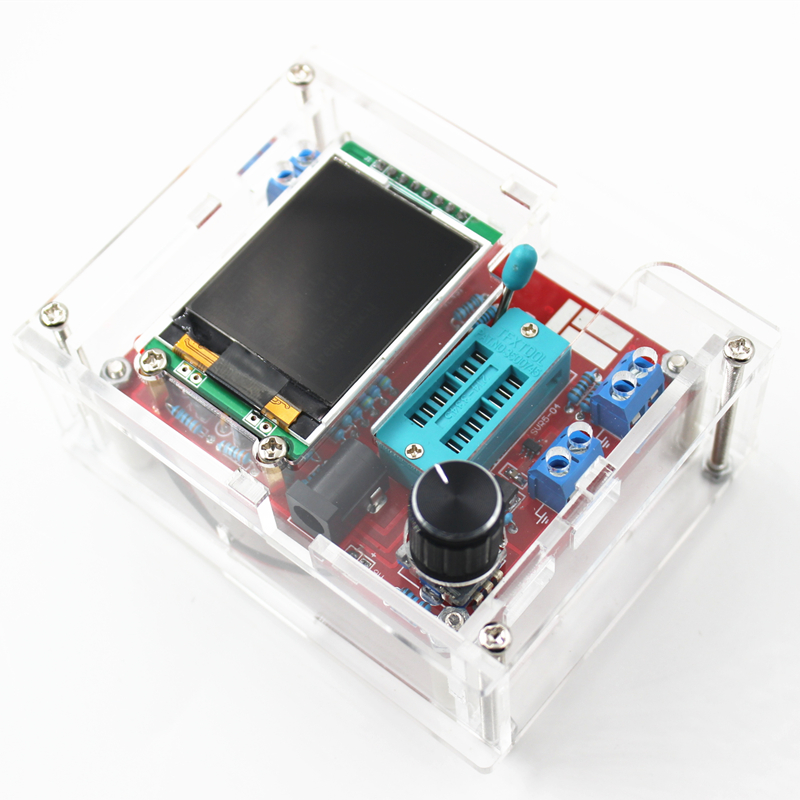 цена на Multifunctional Tester GM328 Transistor Tester Diode Capacitance ESR Meter PWM Square Wave Signal Generator with case