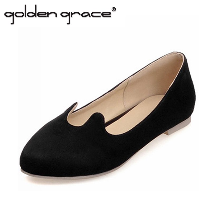 Solid Color Flat Heel Women Shoes Female Black Bow Single Moccasins