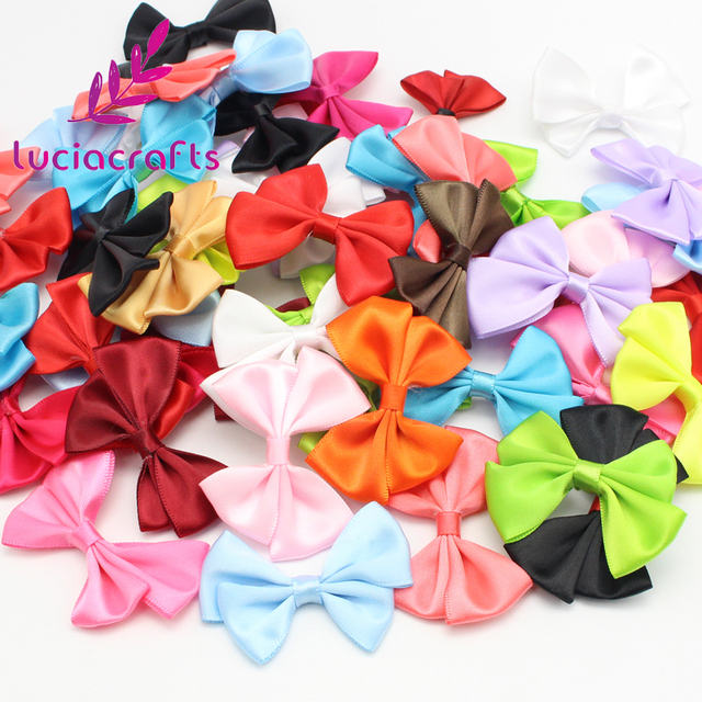 Lucia Crafts Candy Color Hair Bows Girls Boutique Headwear Diy