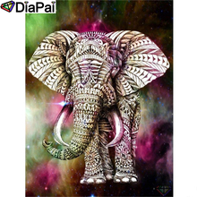 DIAPAI Diamond Painting 5D DIY 100% Full Square/Round Drill Colorful elephant Embroidery Cross Stitch 3D Decor A24652