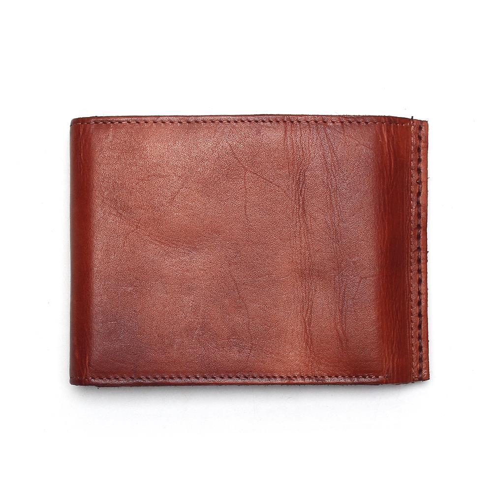 Image 2 - Винтажный Мужской кошелек TAUREN, из 100% натуральной кожи, с  застежкой, в ретро стиле, короткий, тусклый, красный, меняющий Цвет  Кошелек для монетwallet shortwallet menhasp wallet